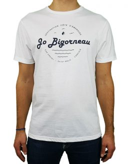 T-shirt blanc sérigraphie côte d'émeraude