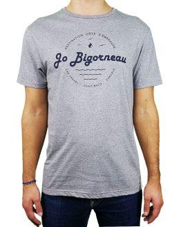 T-shirt gris cote émeraude jo bigorneau