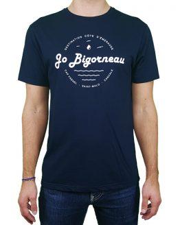 T-shirt coton motif côte d'émeraude marine