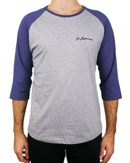 T-shirt manches 3/4 gris violet