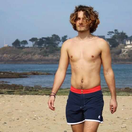 short de bain homme marin marine